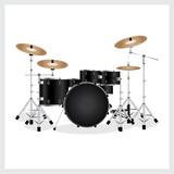 Vector Illustration Drum Set Black
