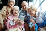 Selfie of seniors