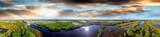 Panoramic aerial view of Everglades, Florida