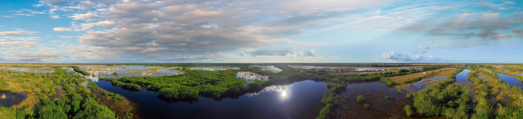 Helicopter view of Everglades, Florida