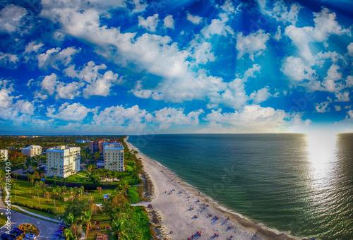 Plexiglas Napels Aerial view of Naples beach, Florida