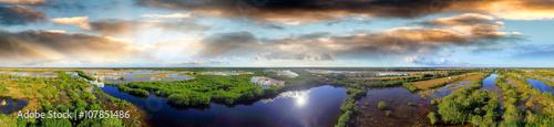 Papiers peints Photos panoramiques Panoramic aerial view of Everglades, Florida