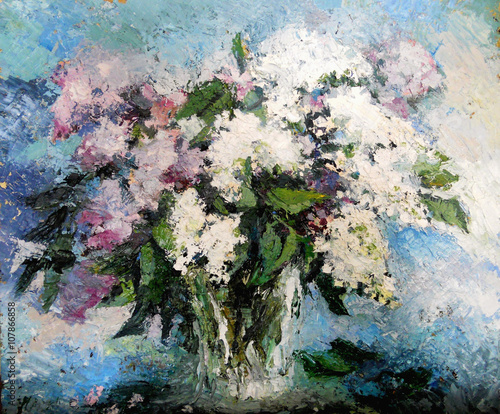 Obraz lilac flowers in a vase