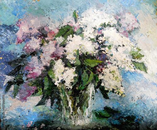 Fototapeta lilac flowers in a vase