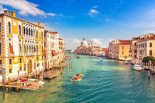 Grand Canal and Basilica Santa Maria della Salute in Venice Poster