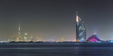 Fototapety Dubai Panoramic Night View