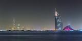 Dubaj Panoramiczny Nocny Widok
