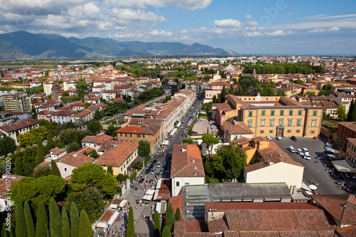 Plakát Overview of Pisa Italy