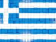 Obrazy na płótnie, fototapety, zdjęcia, fotoobrazy drukowane : Background with square parts. Flag of greece. 3D illustration