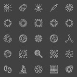 Virus and bacteria icons