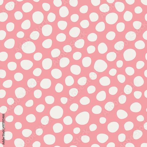 Cotton fabric seamless dots pattern