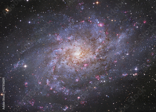 Galaxy in cosmic space - 107936091