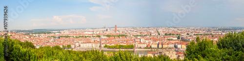 Fototapeta City scape of Lyon, France