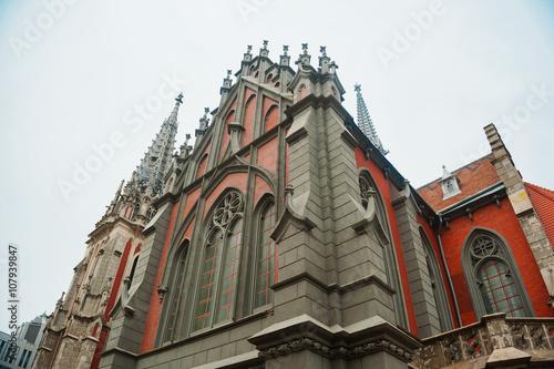 Keuken foto achterwand Antwerpen Catholic church in the Gothic style architecture