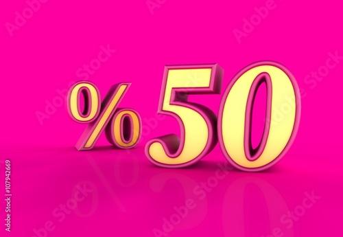 Plexiglas Roze Yüzde, 50, 3D Tipografi