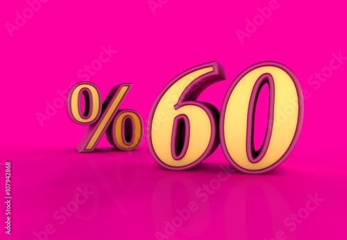 Plexiglas Roze Yüzde, 60, 3D Tipografi