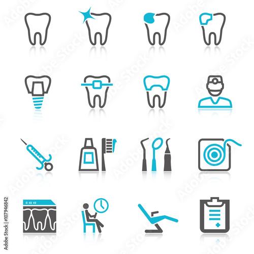 Fototapeta Dental icons