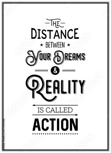 Plexiglas Vintage Poster Quote typographical Background