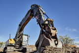 Fototapety Industrial Heavy Equipment machine excavator road street work