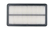 New car air filter on a white background