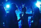 Dances in blue light