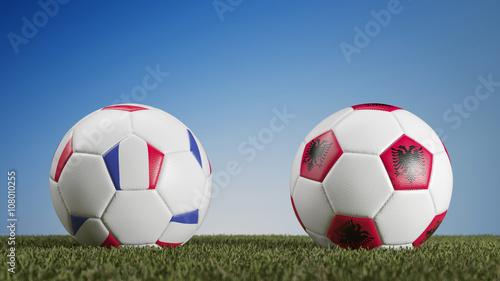 Fußballspiel Frankreich gegen Albanien