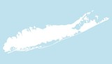 Fototapety Map of Long Island
