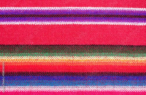 Bolivian traditional fabrics. Poster