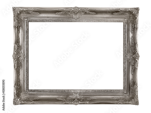 Silver picture frame Poster