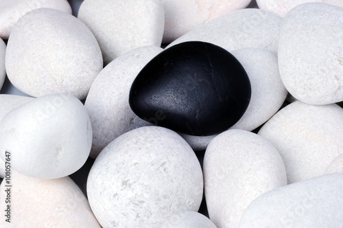 Foto op Canvas Zen Being different, stand out of a crowd conceptual, zen stones with words