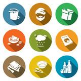 Social phenomenon homeless Icons Set. Vector Illustration.