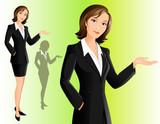 Businesswoman (welcoming)
