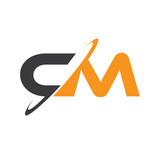 CM initial logo with double swoosh - 108103818