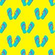 Icono plano patrón con chanclas color #1 - 108111421