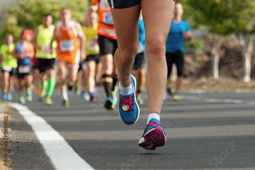 Fototapeta Marathon runners
