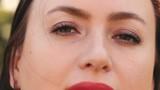 Close up portrait of brunette woman.