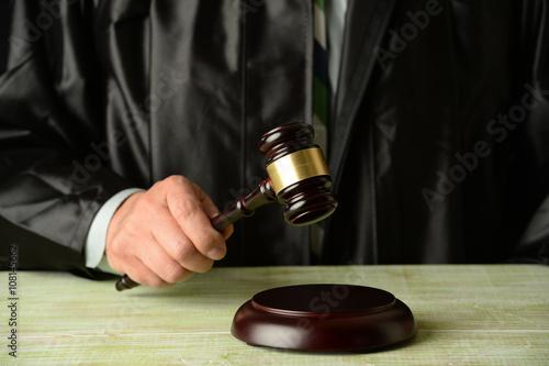 Poster Judge Holding Gavel