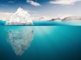 iceberg on blue ocean