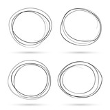 Fototapety Hand drawn scribble circles template.