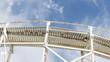Obrazy na płótnie, fototapety, zdjęcia, fotoobrazy drukowane : white wooden road and beautiful sky