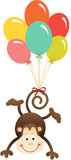 """Cute monkey flying with balloons 104645488,Electric multimeter"""""""
