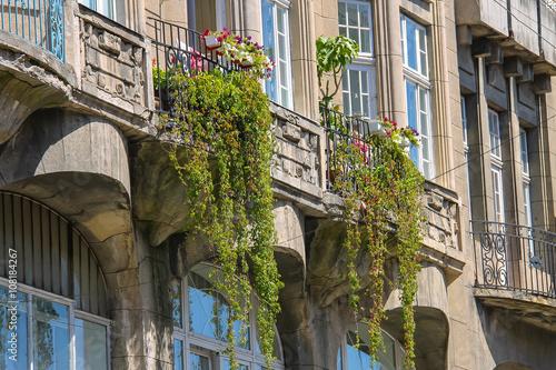 Foto op Plexiglas Havana Part of old house in historic city center. Lviv, Ukraine