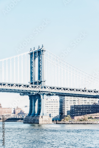 Manhattan Bridge in New York City United States America - 108208417