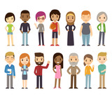 Fototapety Cartoon diverse people