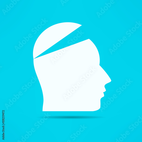 Open your mind design. Free your mind. Opened head. Attention concept © Mikael Miro