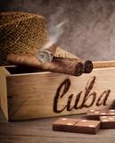Smoking cigar and domino game, Cuba.
