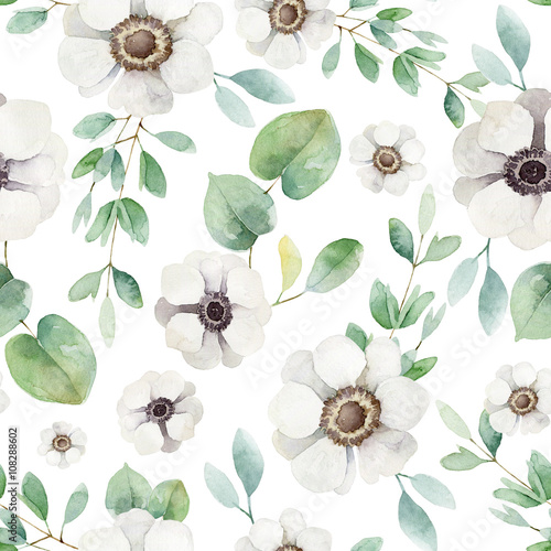 Seamless floral pattern  - 108288602