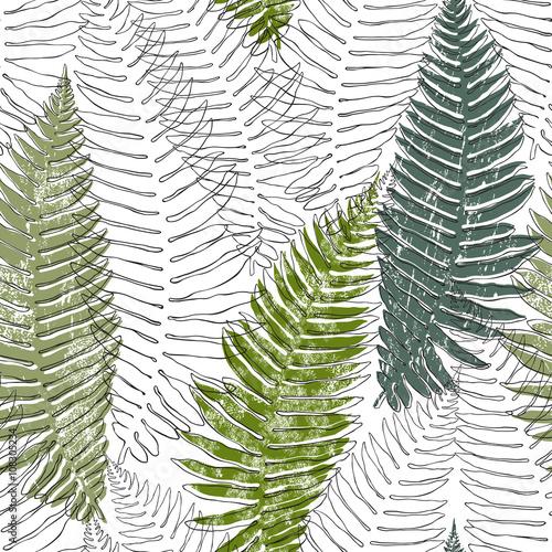 Tapeta Fern seamless background.
