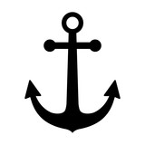 Ship anchor or boat anchor flat icon for apps and websites