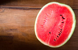 Fresh  watermelon wooden background
